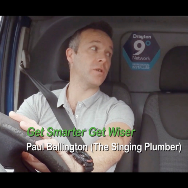 The Singing plumber in his van singing the Get Smarter Get Wiser song that he created for Drayton