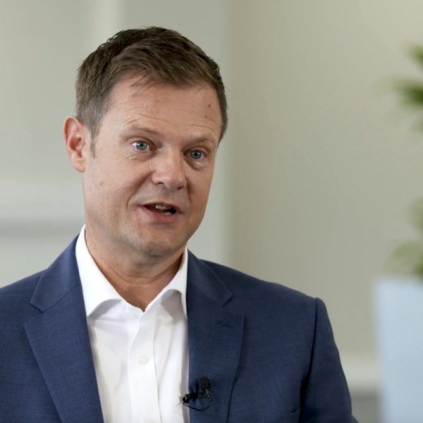 The UK and Ireland Country Manager for Saint-Gobain Abrasives, a still image taken from a video produced for Saint-Gobain Abrasives